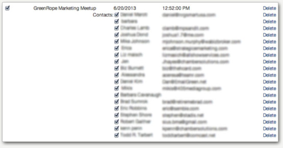GoToMeeting Meetup contacts